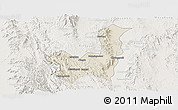 Shaded Relief Panoramic Map of Kalaw, lighten
