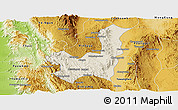 Shaded Relief Panoramic Map of Kalaw, physical outside