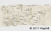 Shaded Relief Panoramic Map of Kalaw