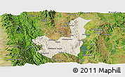 Shaded Relief Panoramic Map of Kalaw, satellite outside