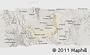 Shaded Relief Panoramic Map of Kalaw, semi-desaturated
