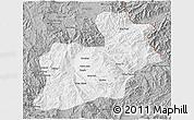 Gray 3D Map of Keng Tung