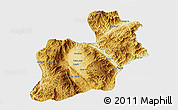 Physical 3D Map of Keng Tung, single color outside
