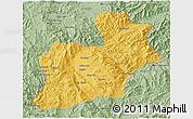 Savanna Style 3D Map of Keng Tung