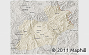 Shaded Relief 3D Map of Keng Tung, semi-desaturated