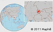 Gray Location Map of Keng Tung