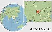 Savanna Style Location Map of Keng Tung
