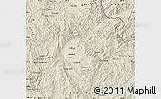 Shaded Relief Map of Keng Tung
