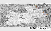 Gray Panoramic Map of Keng Tung