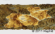 Physical Panoramic Map of Keng Tung, darken