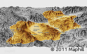 Physical Panoramic Map of Keng Tung, desaturated