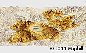 Physical Panoramic Map of Keng Tung, lighten