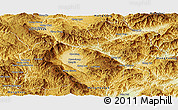 Physical Panoramic Map of Keng Tung