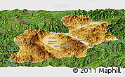Physical Panoramic Map of Keng Tung, satellite outside