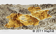Physical Panoramic Map of Keng Tung, semi-desaturated