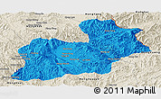 Political Panoramic Map of Keng Tung, shaded relief outside