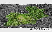 Satellite Panoramic Map of Keng Tung, desaturated