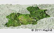 Satellite Panoramic Map of Keng Tung, lighten