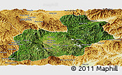 Satellite Panoramic Map of Keng Tung, physical outside