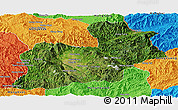 Satellite Panoramic Map of Keng Tung, political outside