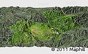 Satellite Panoramic Map of Keng Tung, semi-desaturated