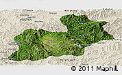 Satellite Panoramic Map of Keng Tung, shaded relief outside