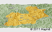 Savanna Style Panoramic Map of Keng Tung