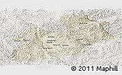 Shaded Relief Panoramic Map of Keng Tung, lighten