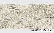 Shaded Relief Panoramic Map of Keng Tung