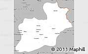Gray Simple Map of Keng Tung