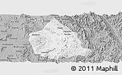 Gray Panoramic Map of Kunhing