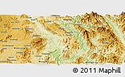 Physical Panoramic Map of Kunhing