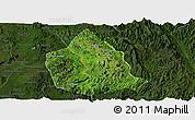 Satellite Panoramic Map of Kunhing, darken