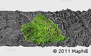 Satellite Panoramic Map of Kunhing, desaturated
