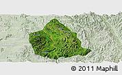 Satellite Panoramic Map of Kunhing, lighten
