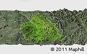Satellite Panoramic Map of Kunhing, semi-desaturated