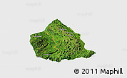 Satellite Panoramic Map of Kunhing, single color outside