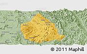 Savanna Style Panoramic Map of Kunhing