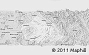 Silver Style Panoramic Map of Kunhing