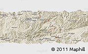 Shaded Relief Panoramic Map of Kunlong