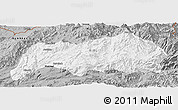 Gray Panoramic Map of Kutkai