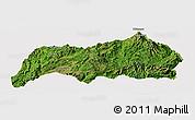 Satellite Panoramic Map of Kutkai, cropped outside