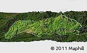 Satellite Panoramic Map of Kutkai, darken