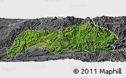 Satellite Panoramic Map of Kutkai, desaturated