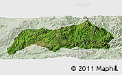 Satellite Panoramic Map of Kutkai, lighten