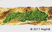 Satellite Panoramic Map of Kutkai, physical outside