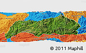 Satellite Panoramic Map of Kutkai, political outside