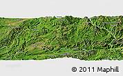 Satellite Panoramic Map of Kutkai