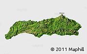 Satellite Panoramic Map of Kutkai, single color outside