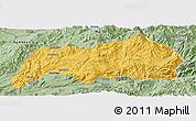 Savanna Style Panoramic Map of Kutkai